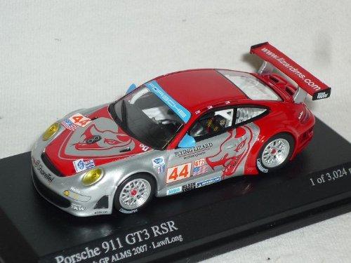 Minichamps Porsche 911 997 Gt3 GT 3 RSR Alms Nr 44 2007 Long Beach Gp 1/64 Modell Auto Modellauto