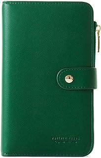 Travel Wallet Passport Holder Phone Pocket Leather Handbag Large Capacity Card Case Flip Layer Zipper Pocket iphone