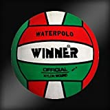 Winner - Balón de waterpolo (tamaño 5), color verde y blanco