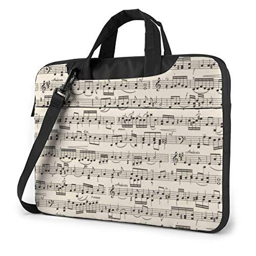 Sheet Music Laptop Bag 13 Inch Shoulder Messenger Bag Computer Tote Briefcase for Work School