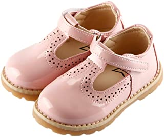 iFANS Girls T-Strap Mary Jane Shoes Slip-on Party Dress Flat for Toddler Little Kids