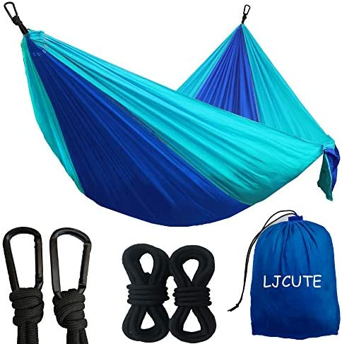Camping Backyard Hammock with All The Installations Foldable Portable Nylon Parachute Travel product image