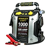 STANLEY J5C09 JUMPiT Portable Power Station Jump Starter: 1000 Peak/500 Instant Amps, 120 PSI Air Compressor, USB Port, Battery Clamps