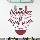 Wandaufkleber 36X42 Cm Glück Ist Eine Selbst Gemachte Küche-Zitat-Abziehbild-Selbstklebende...