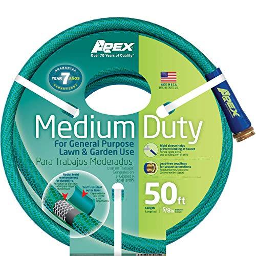 Apex 8535-50 Medium-Duty Garden Hose, 5/8-Inch by 50-F