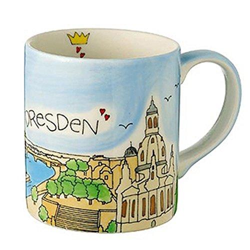 Mila Tasse Dresden August handbemalt   Souvenir Tasse