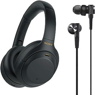 ヘッドホン単品+有線/重低音イヤホン MDR-XB55 B