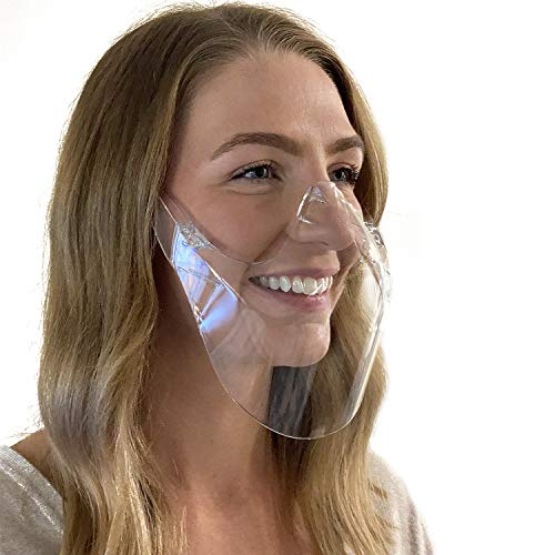 Green Piece Clarity Mask Face Shield - Made with Polycarbonate Plastic - Reusable   Durable Clear Face Mask (LARGE - PACK OF 1)