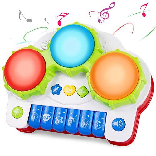 ANTAPRCIS Juguete Educativo de Aprendizaje Musical Eléctrico, Juguete de Aprendizaje de Preschoool, Juguete Electrónico de Piano de Teclado, Juguete de Tambor de Mano