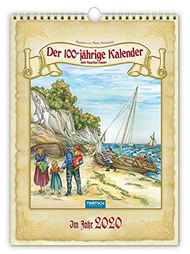 "Classickalender ""Hundertjähriger Kalender"" 2020: 24 x 33 cm, nach Mauritius Knauer"