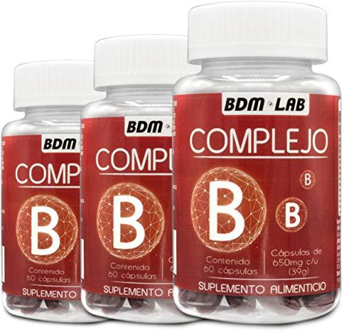 Complejo B 60 capsulas BDM Biocaps de México PAQUETE DE 3 PIEZAS