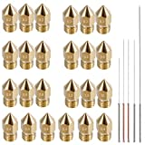 AFUNTA 24 Pieces M6 3D Printer Extruder Brass Nozzle Print Heads for 1.75mm