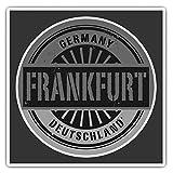 Impresionantes pegatinas cuadradas (juego de 2) 10 cm BW – Frankfurt Alemania Deutschland Divertidos calcomanías para portátiles, tabletas, equipaje, reserva de chatarras, neveras, regalo genial #40504