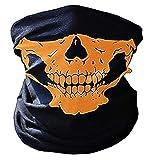 Passamontagna Teschio - Cranio - Meta Volto - Maschera - Horror - Halloween - Travestimento - Cosplay - Ciclista - Motociclista - Carnevale - Sport - Marrone - Misura Unica - Idea regalo originale