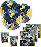 48 Teile Batman Superhero Party Deko Basis Set - für 16 Kinder