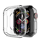 ivoler [3 Unidades] Funda para Apple Watch SE/Apple Watch Series 6/5 / 4 44mm, Protector de Pantalla para iWatch Serie 5/4 44mm, Carcasa de Apple Watch 44mm, Hermès/Nike+ Edition - Transparente