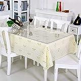 uyoyous Tischdecke Tischfolie Schutzfolie Tischschutz PVC Folie TransparentTischschutzfolie, 90 x190 cm, 2mm dick, Tischdecken Wasserdicht für Garten/Esszimmer/Büro - 6