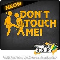 触らないでください!設計1 Dont touch me! Design 1 20cm x 10cm 15色 - ネオン+クロム! ステッカービニールオートバイ