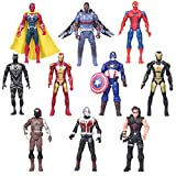 Marvel Action Figures Avengers Superhero Toys 10 Pieces PVC Toys 6.7 inches Suitable for Birthday Party Gifts, Children's Toys, Collectibles, Gifts, Christmas Cake Decorations