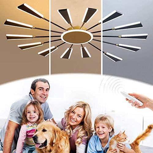 ZRBD-xh Luz Ligera Moderna Luz De Techo,Estilo Simple Araña Colgante con Control Remoto Color Temperatura/Brillo Dimmable,77W,para 20-25㎡Salones,Comedor,Dormitorio,Pendelleuchte