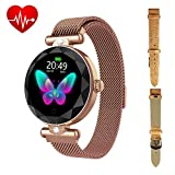 ZGPAX Fitness Watch for Women with Step Counter Calorie Counter, Pedometer Smart Watch Bracelet Waterproof with Heart Rate Blood Pressure Monitor and Sleep Monitor (Silver)