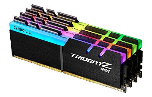 G.SKILL F4-3200C16Q-32GTZR Trident Z RGB Series 32 GB (8 GB x 4) DDR4 3866 MHz PC4-30900 CL18 Dual Channel Memory Kit – Nero con barra luminosa LED RGB a lunghezza intera CL16 32GB (8GBx4)