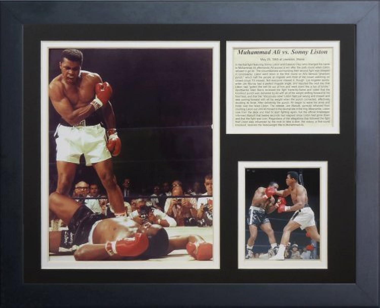 Legenden Sterben Nie  Muhammad Ali vs. Liston Gerahmtes Foto Collage, 11x 35,6cm von Legends Never Die