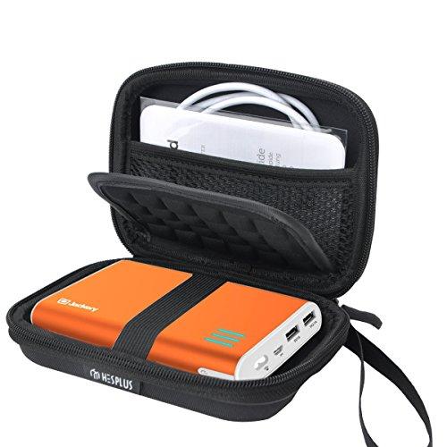 HESPLUS Case for Jackery Giant+ 12000 mAh Jackery Fit Premium 10200mAh Jackery Giant 13400mAh RAVPower 16750mAh 13000mAh Portable Charger Power Bank External Battery Travel Case Storage Bag