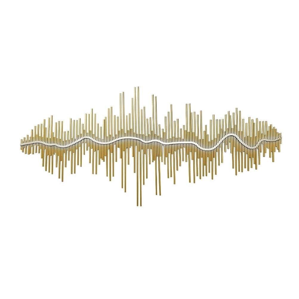 ヘビー予防接種する人生を作るQINQIWDH 金属の壁の芸術、屋内屋外の家の寝室のオフィスの壁掛けのための壁に取り付けられた抽象的な建物の反射壁の装飾 (Size : 59x27.9 inches)