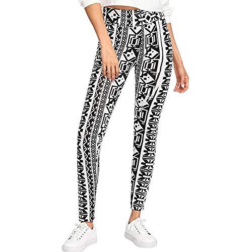 Mujer Pantalones De Yoga para Nuevas Polainas Friends 2023 Chic De Moda Hombres Hombres Y Mujeres Estampado De Mandala Suelta Cintura Alta Linterna Pantalones De Yoga (Color : Negro, Size : XL)