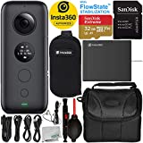 Insta360 ONE X Action Camera with Starter Accessory Bundle – Includes: SanDisk Extreme 32GB microSDHC Memory Card + Carrying Case + Lens Cleaning Pen + Dust Blower + Microfiber Cleaning Cloth