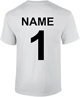 S.B.J - Sportland Funktionsshirt/Laufshirt/Sportshirt Performance T-Shirt mit Rückennummer und Name für Kinder