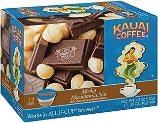 Kauai Coffee Single-serve Pods, Mocha Macadamia Nut – 100% Premium Arabica Coffee from Hawaii's Largest Coffee Grower, Compatible with Keurig K Cup Brewers, Mocha Macadamia Nut, 72Count