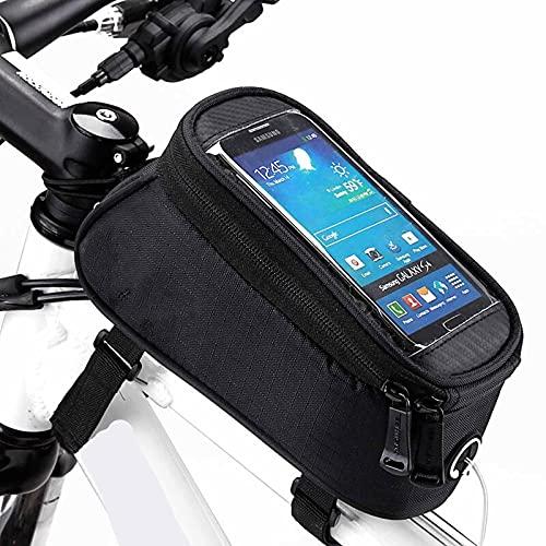 1 unid bicicleta marco bolsa universal bicicleta manillar rotación impermeable accesorios silla bolsa 19.5 × 10 × 9 cm