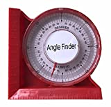 Magnetic Angle Locator Level & Tool Dial Gauge Angle Finder Magnetic Protractor 0-5'/120mm