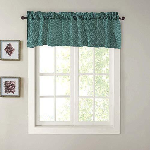 Blackout Gordijn korte gordijnen ondoorzichtig verduisteringsgordijnen slaapkamer raam sjaal winddicht met gordijn ophangen voor woonkamer badkamer kantoor 132 x 46 cm -