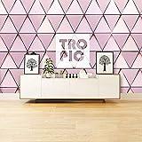 CQDSQN Fotos Mural Romántico gradiente de rombo rosa 3D Auto-adhesivo PVC pegatinas de pared Papel p...