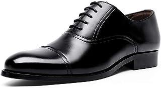 [YIMANIE] ビジネスシューズ 紳士靴 本革 メンズ 革靴 ストレートチップ 内羽根 高級靴 レースアップ