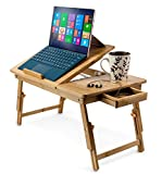 Aleratec Natural Bamboo Adjustable Laptop Stand Up...