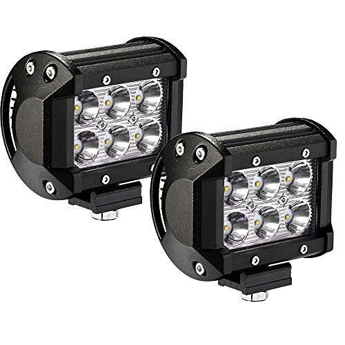 YITAMOTOR LED Light Bar 2Pack 18W 4Inch Square Led Work Light Spot Pod Light Driving Light Fog Light Offroad Light Waterproof for Jeeps Truck Golf Cart Boat 4WD ATV SUV 12V 24V,2 Years Warranty