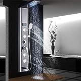 FYYONG 10 pulgadas incorporado en el conjunto mezclador de la ducha, montado en la pared, mezclador de la ducha, con ducha de mano en negro