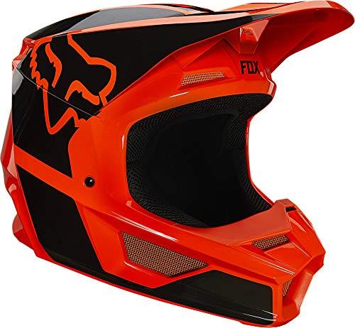 Fox Racing V1 REVN Helmet, Fluorescent Orange, x-Large