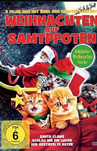 Weihnachten auf Samtpfoten - 3 Filme inklusive Weihnachts-Socke