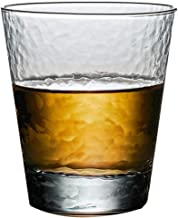 Tumblers Hammered Mug, Hand-made Glass, Beer Mug, Large-capacity Teacup, Glass, Whiskey, Wine Glass (Color : Clear, Size : 7.514.5cm)