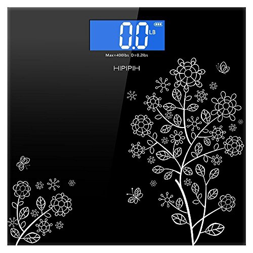 Cheapest Price! 400lb / 180kg Digital Body Weight Bathroom Scale with Step-On Technology and Tempere...