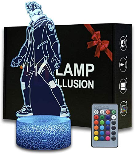 3D Illusion Battle Royale Night Light, Game Theme Table Lamp with Remote Control Bedroom Decoration, Creative Desk Lamp for Birthday (Ninja)