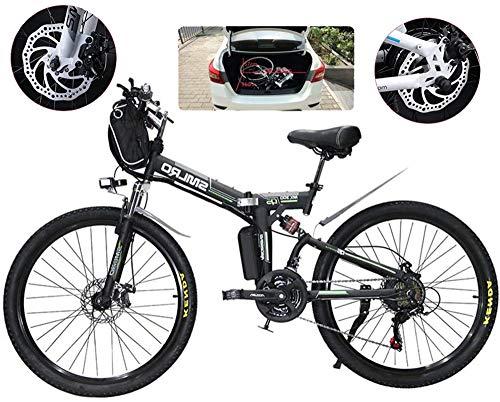 Bicicleta eléctrica E-bici plegable de la montaña eléctrica, Bicicletas 500W nieve, 21...