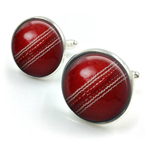Butterfly N Beez Versilbert Cricket Ball Manschettenknöpfe| Cricket| Cricket Geschenk| Cricket Geschenke| Geschenke für ihn| Geschenke für den Bräutigam| Cricketball| Freund Geschenk