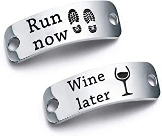 Run Now Win Later Shoe Lace Tag Inspirational Trainer Tags Gift for Runner Fitness Gym Gift
