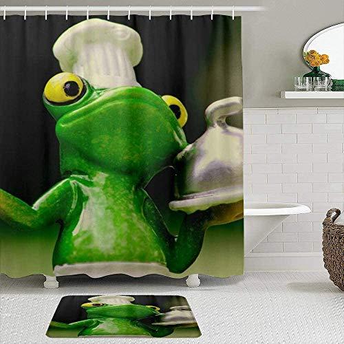 Duschvorhang, Frog Rückseite, Polyester, wasserdicht, Badezimmervorhang, Duschvorhang, Badezimmerdekoration, 72 x 72 cm